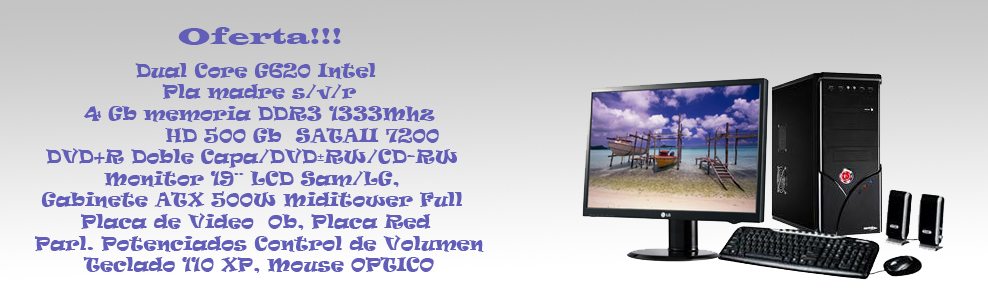 PC Dual Core G620 Intel